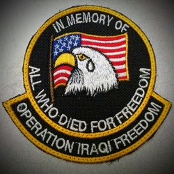 In Memory Of All Who Died For Freedom, Operation Iraqi Freedom